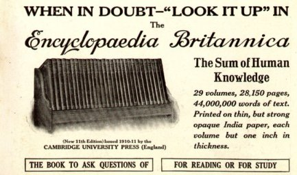 Encyclopedia Britannica 1913, feminism entry not included