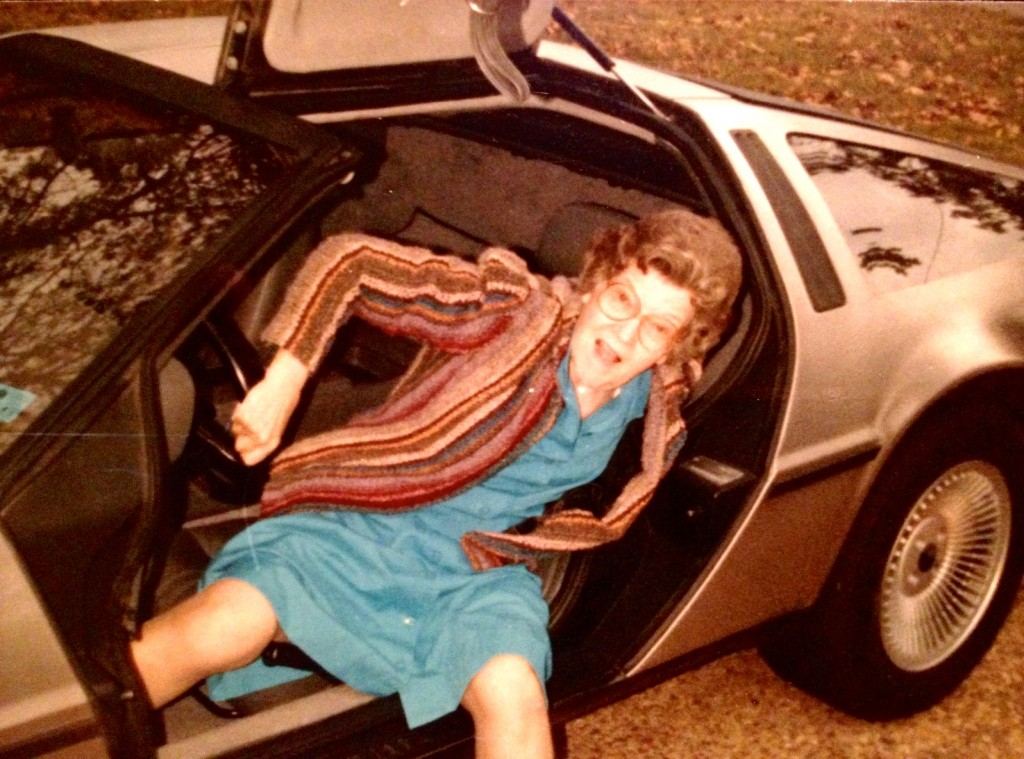 yes, that's my grandma getting out of a DeLorean...already ahead of the React craze..