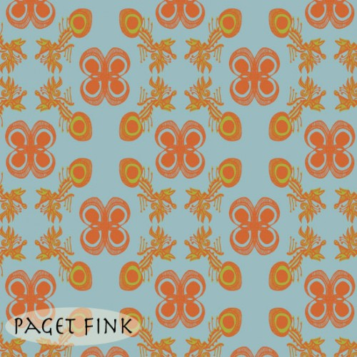 Fin de siecle blu design by Paget Fink