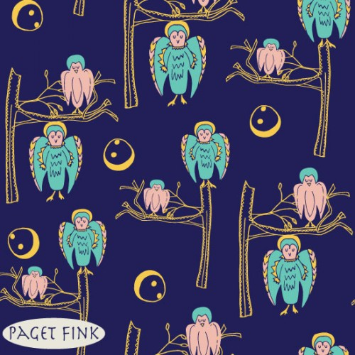 Midnight Owls design by Paget Fink