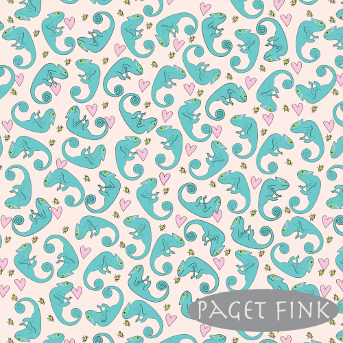 Paisley chameleon - Designed by Paget Fink