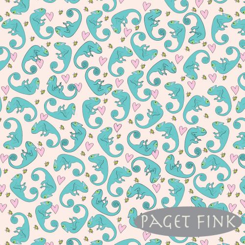 Paisley chameleon - Designed by Paget Fink