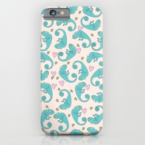 Chameleon Paisley Phone Case - design by Paget Fink