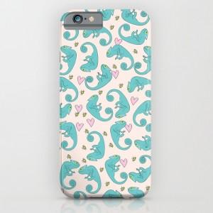 Chameleon Paisley Phone Case - design by Paget Fink