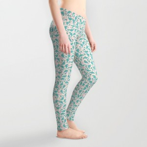 Chameleon Paisley Leggings - design by Paget Fink
