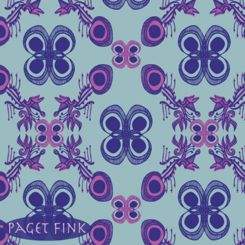 Psych Damask design by Paget Fink