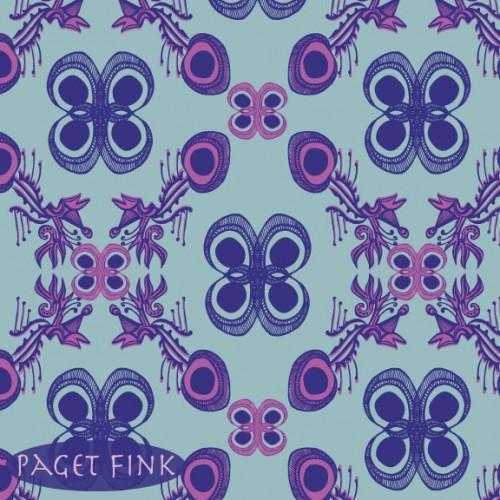 Psych Damask design by Paget Fink