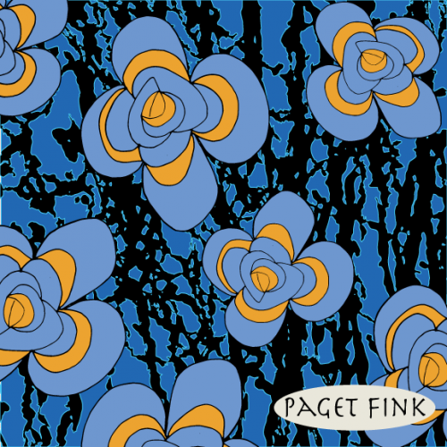 Psychedelic Folk Flower design by Paget Fink