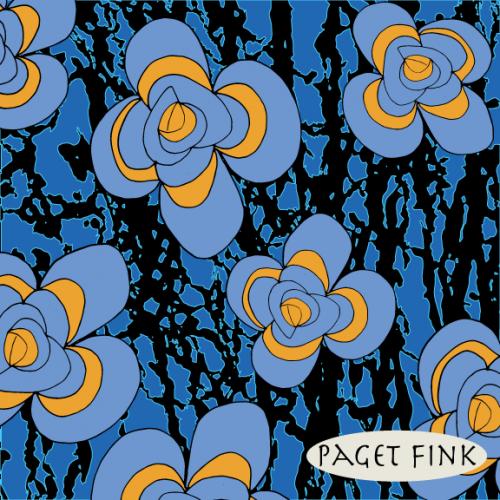 Psychedelic Folk Flower design by Paget Fink