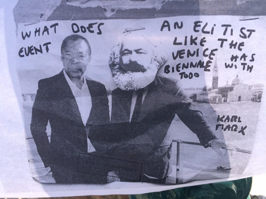Protest poster found in Venice